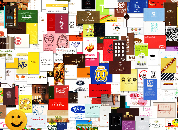 東京都内を中止としたパン屋さん&カフェのショップカードコレクション