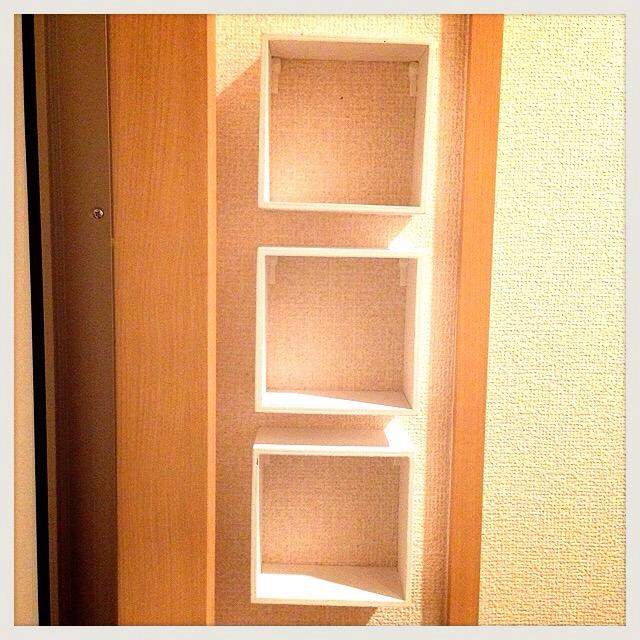 【賃貸OK!100均インテリア】玄関に収納棚をつけてみMAX(ダイソー)