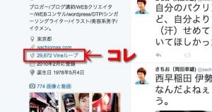 【Twitter】プロフィールにVineのリンク(ループ回数)を表示する方法