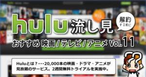 【hulu】解約する前におすすめ映画/テレビ/アニメ【Vol.11】