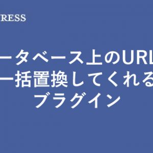 【wordpress】データベース上のURLを一括で置換してくれるプラグイン