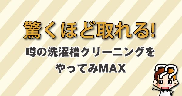 【驚くほど取れる!】噂の洗濯槽クリーニングをやってみMAX-SEIYU編