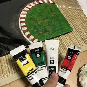 【ミニ四駆】100均手作り撮影ブース その2-ジオラマ編-