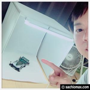 【ミニ四駆】ボックス+LEDライト2本で簡易撮影ブース(Amazon通販)