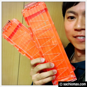 【NERF/ナーフ】Hosim互換品マガジン(透明とオレンジ)を買ってみた。