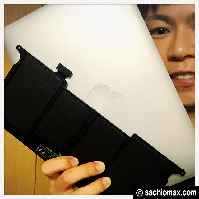 【MacBookAir】11インチ バッテリー交換してみた(費用と方法)通販