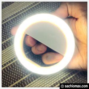 【自撮りライト】YESDA LEDリング(乾電池式)が良い感じ【399円】11