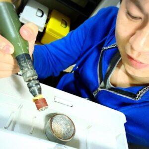 【工作】掃除機を使った手作り集塵機(パテ粉対策)防音対策の効果00