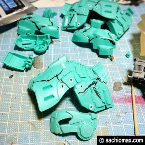 【ZOIDS】ゾイドワイルド ガノンタス ケヅメリクガメ風に塗装する方法07