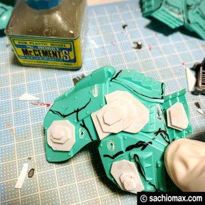 【ZOIDS】ゾイドワイルド ガノンタス ケヅメリクガメ風に塗装する方法08