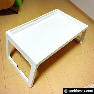 【工作】座って作業に「散らからない」IKEAベッドテーブルが超便利☆03