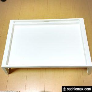 【工作】座って作業に「散らからない」IKEAベッドテーブルが超便利☆04