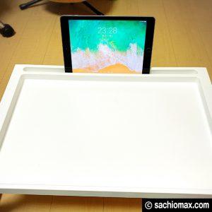 【工作】座って作業に「散らからない」IKEAベッドテーブルが超便利☆06