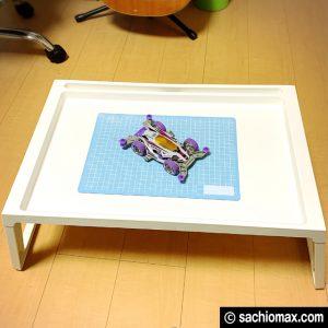 【工作】座って作業に「散らからない」IKEAベッドテーブルが超便利☆09