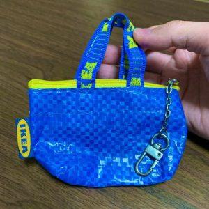 【IKEA】イケアバッグ型ミニポーチ(キーホルダー)99円が可愛い☆02