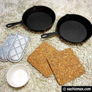 【リベンジ】ニトリ・3coins スキレットで3段パンケーキ作りに挑戦01