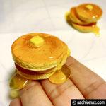 【ミニチュアフード】軽量粘土+UVレジン パンケーキの作り方