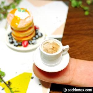 【ミニチュアフード】パンケーキ+フルーツ+お皿+コーヒーの作り方-14