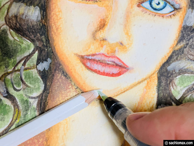【水彩色鉛筆】ユニウォーターカラーコンパクト12色で描いてみたい-08