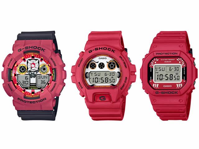 """【G-SHOCK】縁起が良い""""だるま""""モチーフの新デザイン カシオ腕時計-01"""
